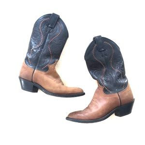 Justin vintage leather western cowgirl boots 5.5
